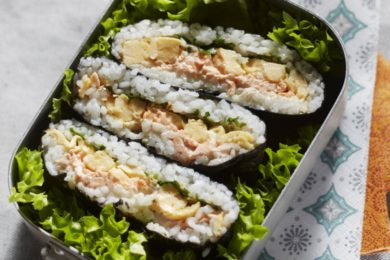 Japanse rijstsandwich