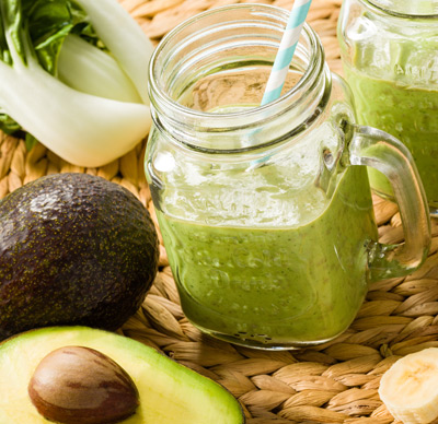 avocado smoothie met mini paksoi