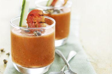 Gazpacho van gegrilde tomaat