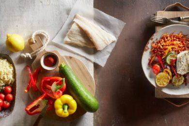 kabeljauwfilet met groenten en rösti