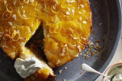 Sinaasappeltaart met vanilleroom