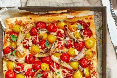 Tomatentartelette met sjalotten