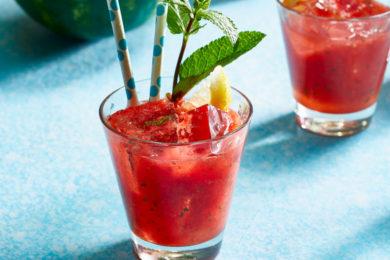 watermeloen-aardbeienlimonade