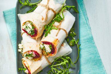 wrap met hummus