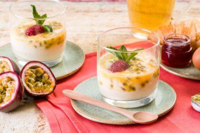 Yoghurt-passiefruitswirl