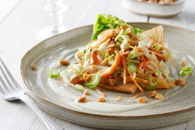 Vietnamese kipsalade met tofu